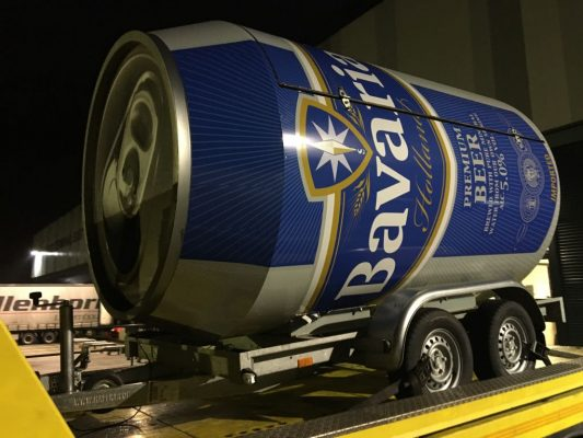 bavaria bier blik wrappen