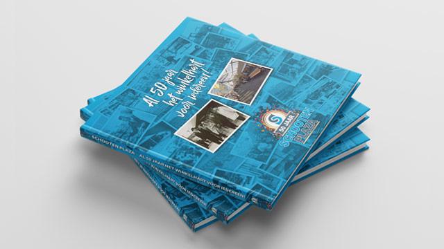 Jubileum boek Schooten plaza